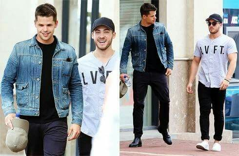Charlie Carver and Cody Christian...