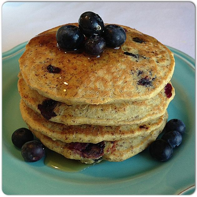 blueberry flax pancakes | Food - Low Carb | Pinterest