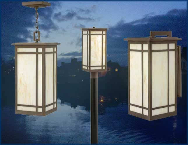 The new Parkside outdoor lights from Hinkley Lighting are classic, Craftsman, transitional outdoor lighting and include post, hanging, and outdoor wall lights.