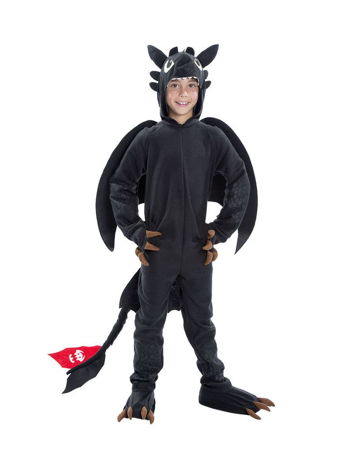 How to Train Your Dragon TOOTHLESS Costume Halloween Child Small 4-6 Night Fury #CompleteOutfit