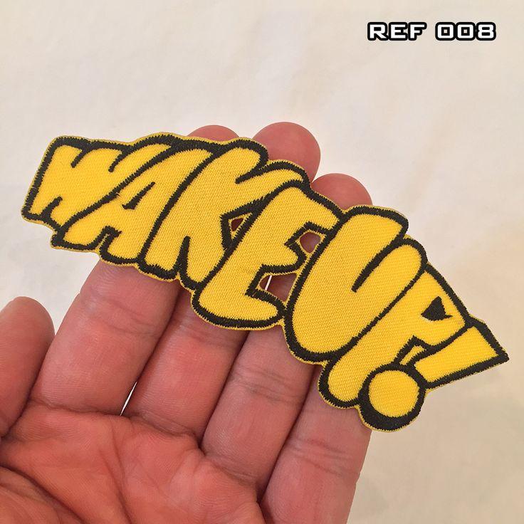 Aplique (patch) Bordado Termocolante Wake Up