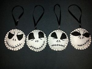 4x HANDMADE FELT NIGHTMARE BEFORE CHRISTMAS JACK TREE DECORATIONS GOTH PUNK EMO | eBay