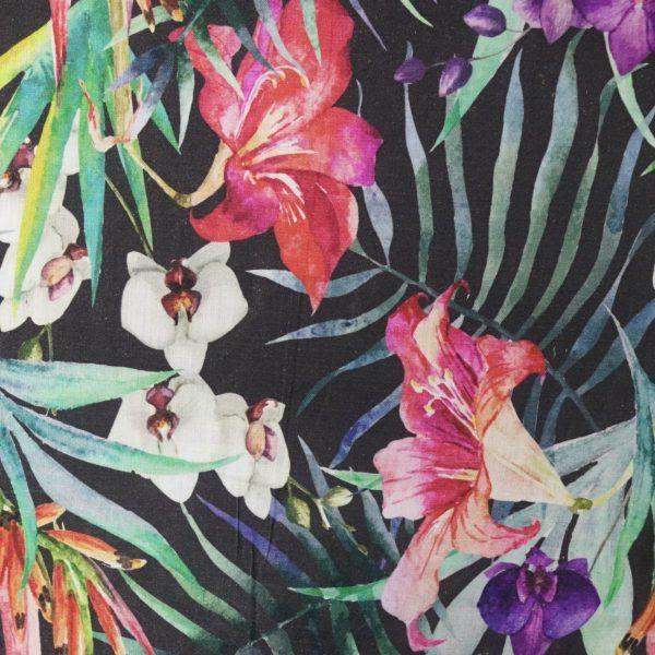 Fiji - midnight on 100% textured cotton