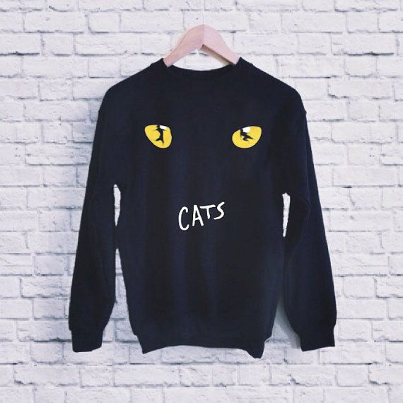 New CATS Broadway Musical Show Logo UNISEX SWEATSHIRT by nyelolor