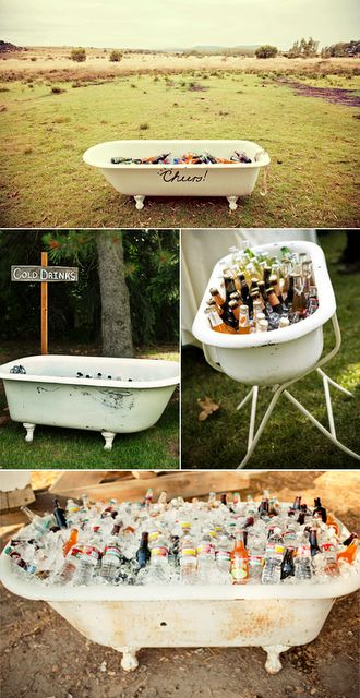 """This was my husband's vision when he brought the old tub home...my thought...""""redneck lawn ornament"""""""