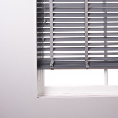 Silvia 50mm Wide Slat Pvc Grey Venetian Blind 120x180cm