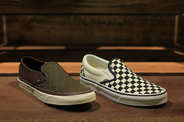 Vans Slip-On Classic CA x Barbour & Classic Checkered Black/White
