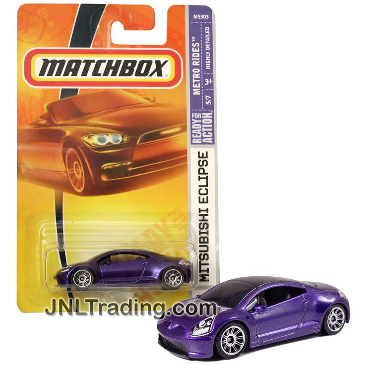 Matchbox Year 2007 Metro Rides Series 1:64 Scale Die Cast Car Set #30 - Purple Sports Coupe MITSUBISHE ECLIPSE (5/7)