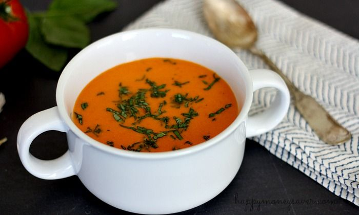 Use up those tomatoes from your garden by making this garden fresh tomato soup. It's easy, delicious and freezer friendly making it a perfect freezer meal.
