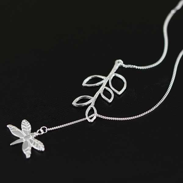 Dragonfly Leaf Silver Necklace @ Fig & Wattle
