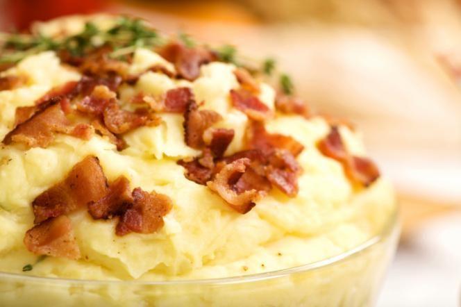 Purê de batatas com bacon