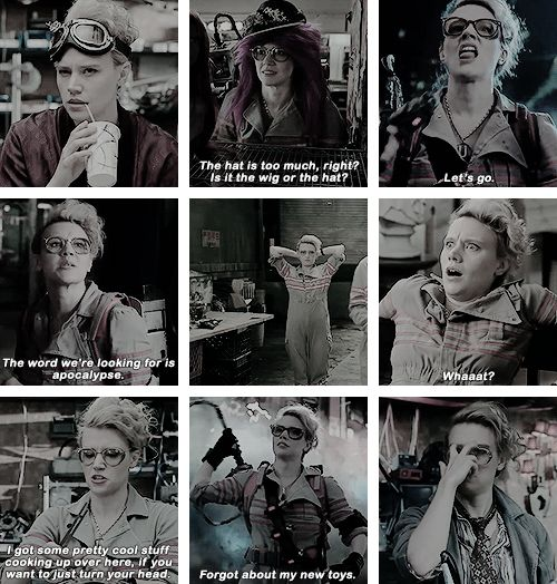 Holtzmann: It's 2040. Our president is a plant… I'm kidding, you were gone two seconds.   #ghostbusters