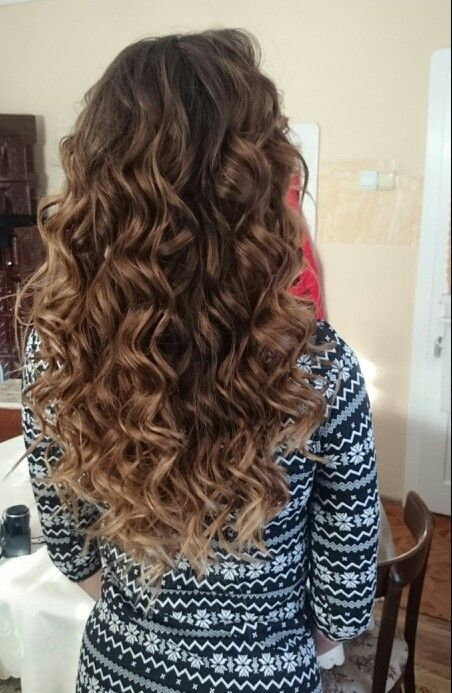 Balayage,ombre, babylights, curly long hair
