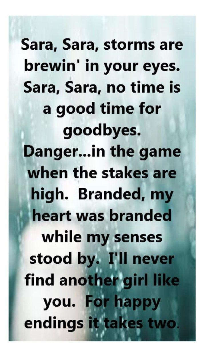 Starship - Sara - song lyrics, song quotes, songs, music lyrics, music quotes