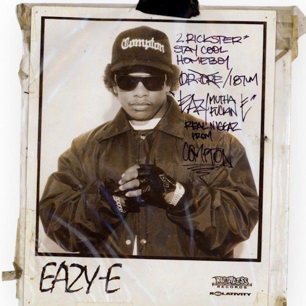 """""""Eazy-E gave me this signed 8 x 10 when I interviewed him for SECONDS magazine in NYC in 1993. Of course I brought my still and video cameras. He lit up a primo blunt and I dubbed him the Black #JohnCassavetes. """" 
