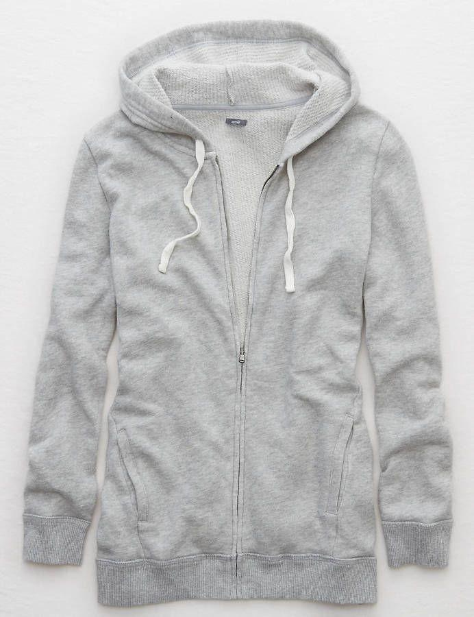Aerie Zip Front Hoodie