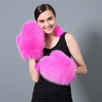 Fun and cute hot PINK winter mittens.  PINK mittens for women will definitely keep your hands warm.