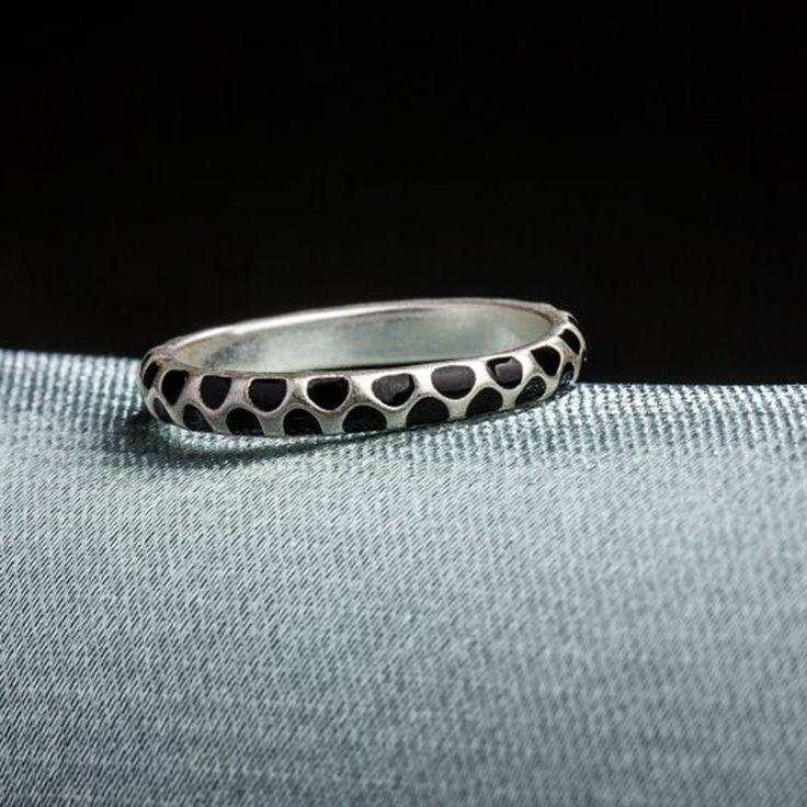6 ROXI 2Pcs Fashion Rose Gold Plated Enamel Smooth Ring Women - Tomtop.com