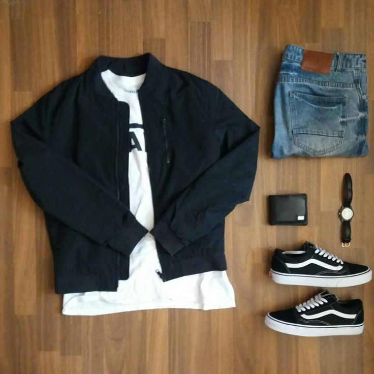 Men outfit vans street style