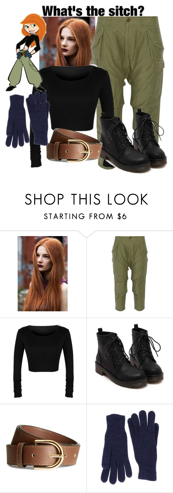 """Kim possible costume"" by i-luv-u-and-one-direction ❤ liked on Polyvore featuring NLST, H&M and Twin-Set"
