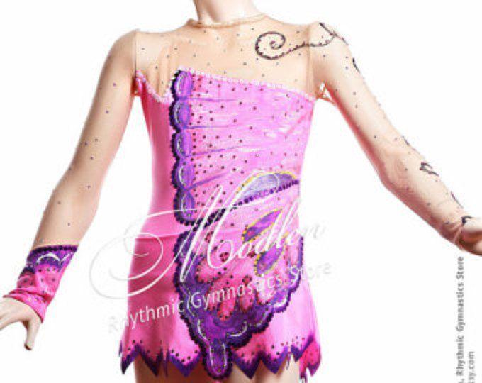 Collant # 12: Ginástica Rítmica Body de Ginástica, patinação artística no gelo Vestido, Ginástica Acrobática Costume