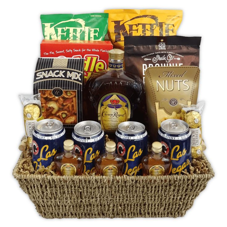 Gourmet crown royal beer basket champagne life gift