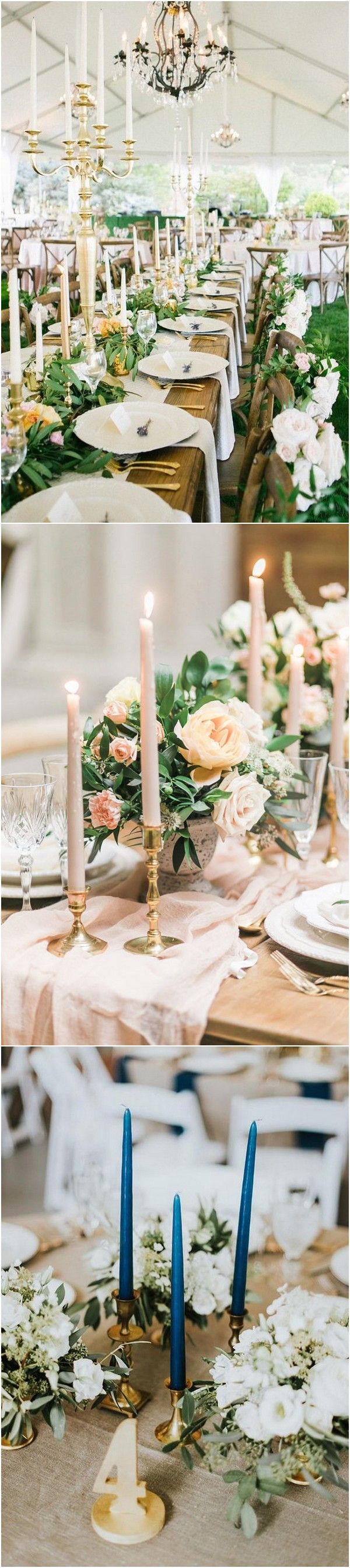 Wedding decorations for outside january 2019 Trending  Fabulous Wedding Table Decoration Ideas with Taper
