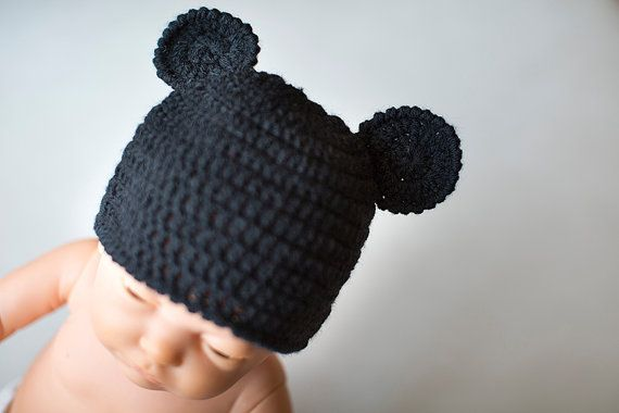 Crochet Mickey Mouse Hat, Crochet Newborn Hat