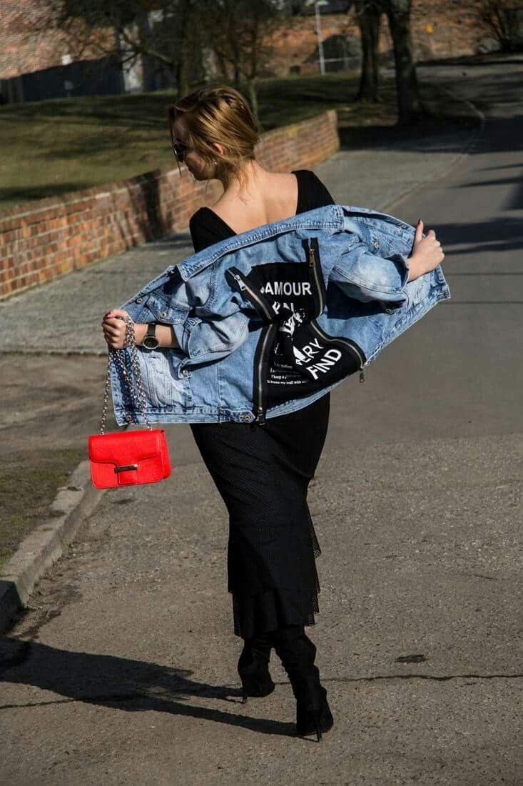 Jeans jacket and flare skirt #ootd #fashion #stylish #style #streetstyle