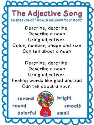 The Sing-A-Long Adjective Song! | Classroom Freebies Too | Bloglovin'