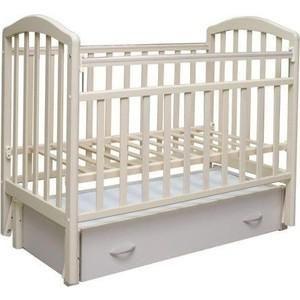 """Антел """"Алита-6"""" (слоновая кость)  — 7010р. --------------------- Тип кроватки кроватки с продольным качанием    Возраст ребенка От 0 месяцев  Пол ребенка унисекс  Материал дерево  Ящик под кроватью да  Матрас в комплекте нет  Опускающаяся стенка да  Съемная передняя стенка да  Силиконовые накладки да  Число уровней высоты днища 2  Пеленальный стол нет  Маятник да"""