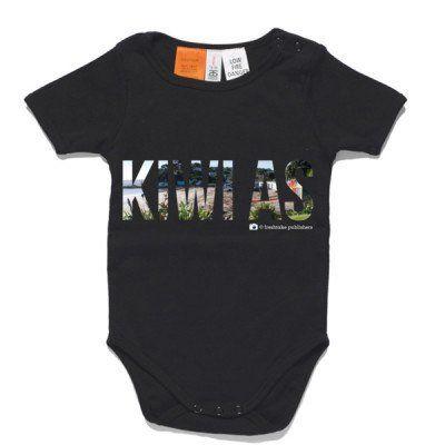 Kiwi As Baby Clothing - Black One Piece