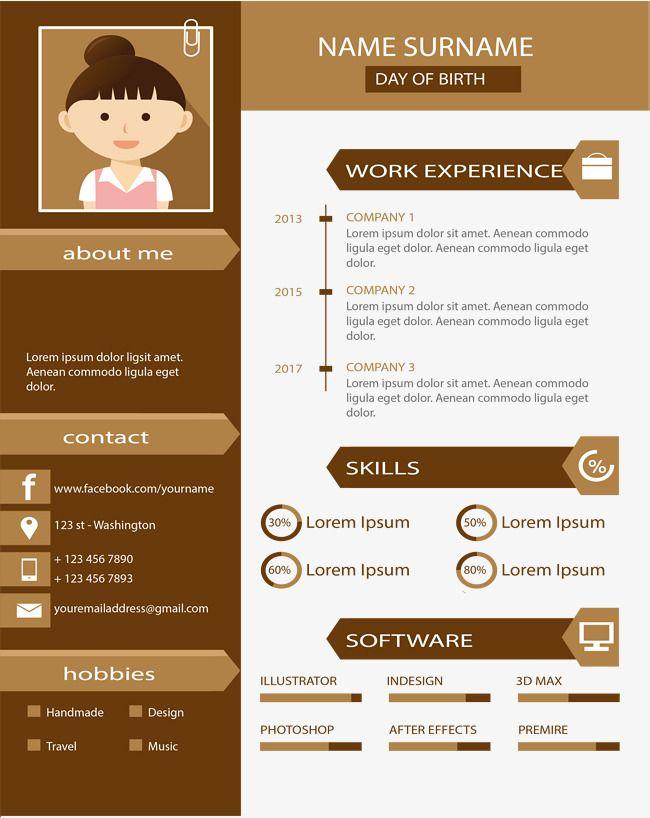 Best 25+ Plantilla curriculum vitae ideas on Pinterest Plantilla - curriculum vitae