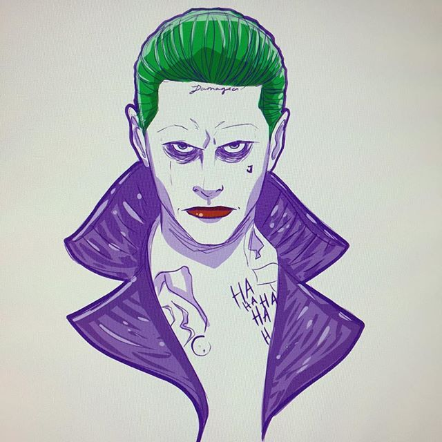 #mulpix Quick sketch of the new Jared Leto/Joker. Love the bright colors he has…
