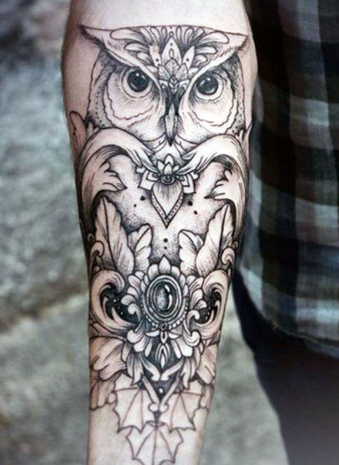 Owl Tattoo Ideas For Men Forearm