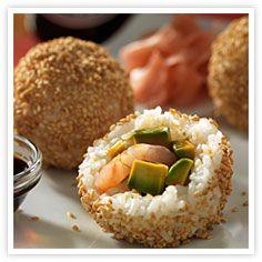 Bolas de arroz de sushi