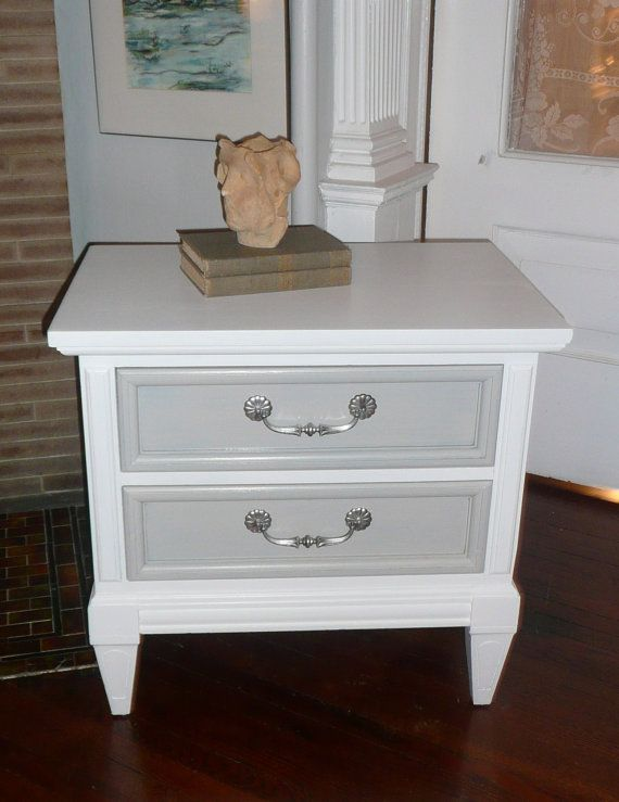 Hollywood Regency Pair of Nightstands Paint furniture