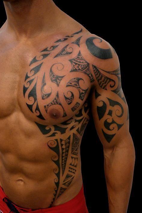 Tatuaggi spalla e petto arte del corpo hawaii dermatology for Tattoo spalla anteriore