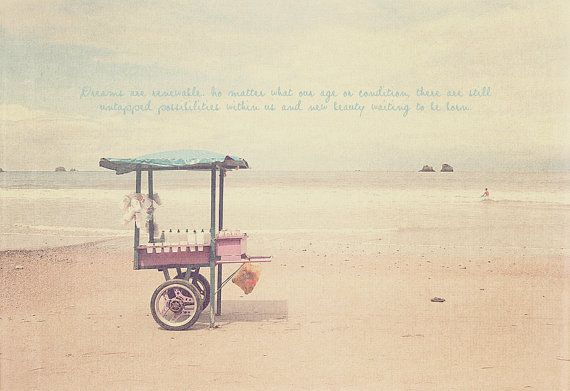 Food Candy Snack Cart in Beach Photo Art Print by CharlenePrecious, $28.00