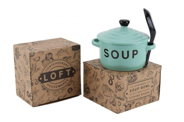 Mint Soup Bowl and Spoon - Wonder Stuff