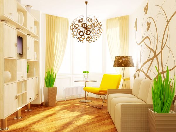 Tips to Make Your Small Living Room Prettier: Decor Ideas, Living Rooms Design, Small Living Rooms, Small Rooms, Small Spaces, Living Rooms Furniture, Living Rooms Ideas, White Cabinets, Yellow Chairs