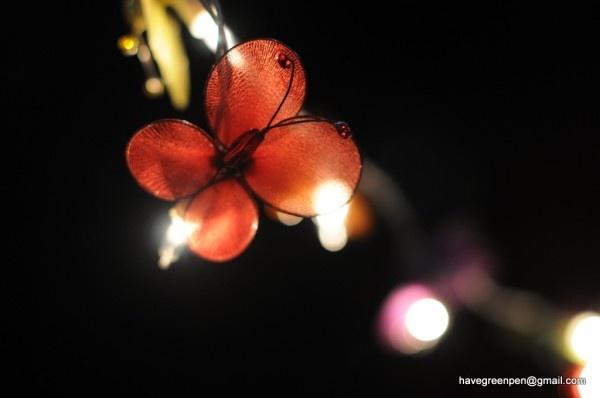 20 handmade butterfly fairy light display garland patio hanging