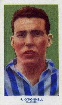 1939 R & J Hill Famous Footballers Series 1 #7 Frank O'Donnell Front