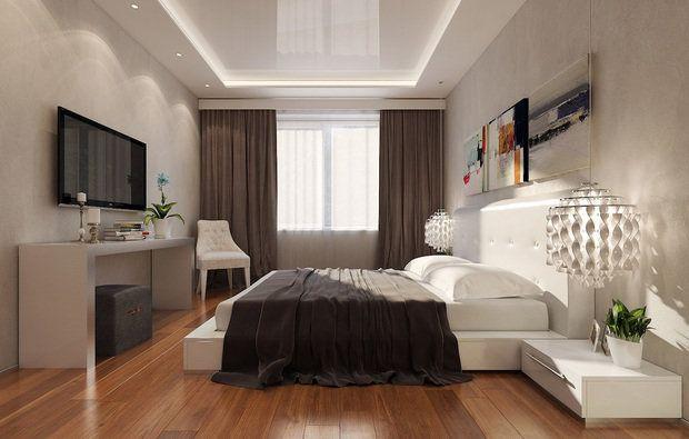 Фотография: Спальня в стиле Современный, Малогабаритная квартира, Квартира, Освещение, Декор, Дома и квартиры – фото на InMyRoom.ru