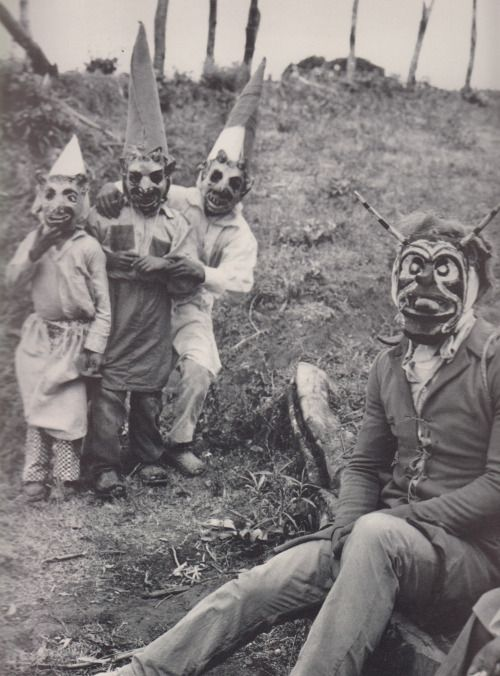 """The rampant, total devastation of a firestorm...scientists are baffled as to why only clowns survived. One was quoted """"How the fuck would I know?""""    (chabochi: Pastorela en Ocumichu, Michoacan)"""