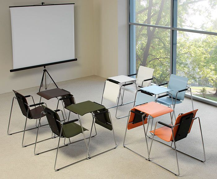 SEATTABLE: трансформер 2 в 1! Стул-стол для офисов и общественных интерьеров
