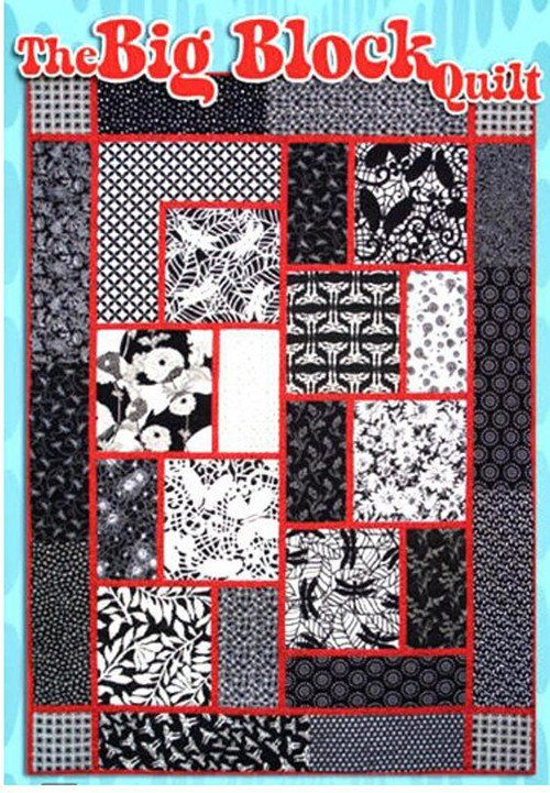 """This quilt is all about the fabric. Easy, quick and stunning, this fat quarter quilt is beginner friendly. Finished size: 53"""" x 75"""""""""""
