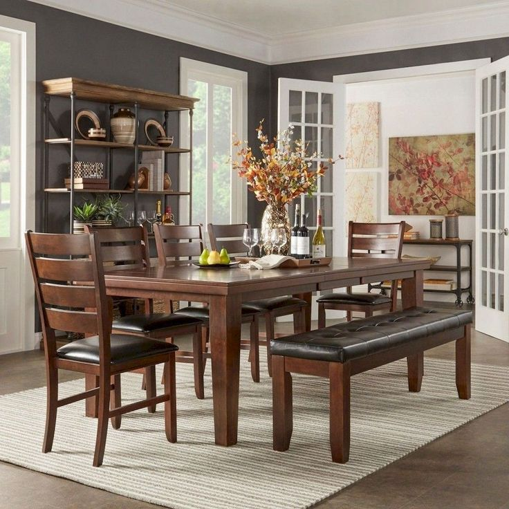 Cool 100 Rustic Farmhouse Dining Room Decor Ideas Https://livingmarch.com/