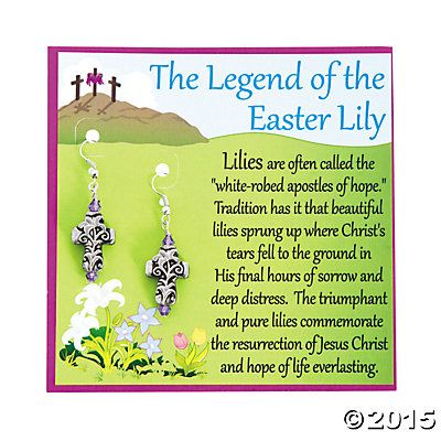 84 best religious easter images on pinterest craft kids baptism lily cross easter earrings with card craft kit share messages of easter by making handmade negle Choice Image