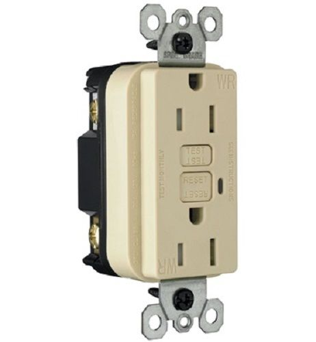 Pass & Seymour - 1595TRWRI - 15 Amp - Weather Resistant - Ivorye - GFCI - Tamper Resistant Ground Fault Receptacle
